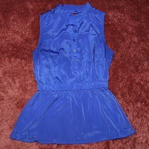 Merona blue sleeveless shirt--missing sash